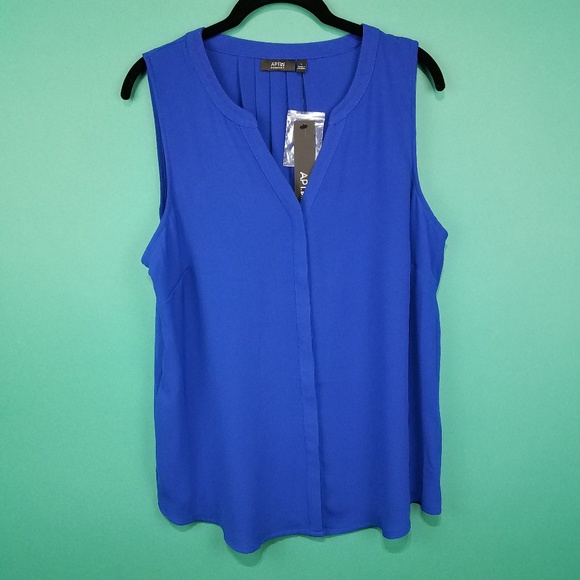 5b8b2e61ee2b06 Apt. 9 Tops   Apt 9 Blue Sleeveless Blouse   Poshmark